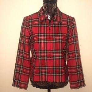 Pendleton 100% wool plaid jacket